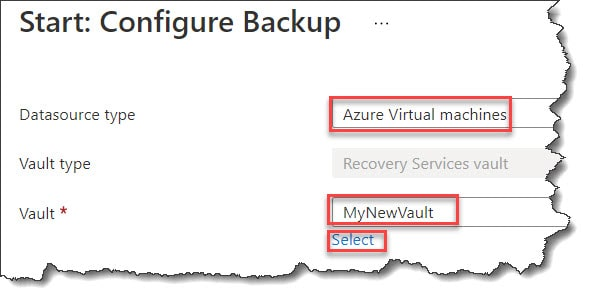 Apply a backup policy to Azure VM