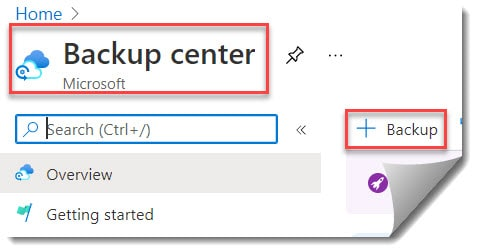 How to apply a backup policy to Azure VM