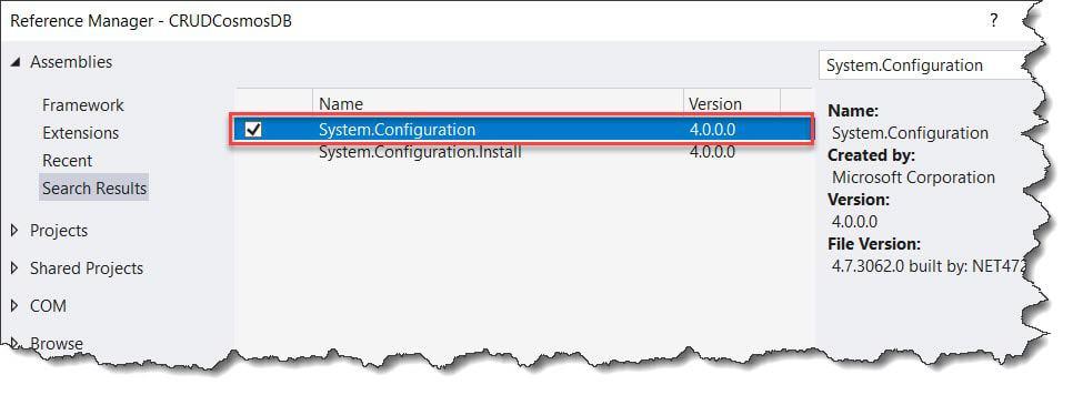 CRUD Operations Azure Cosmos DB