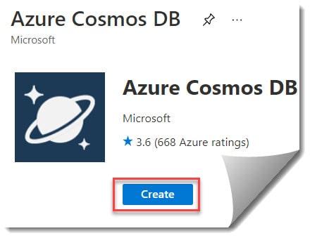 Create Azure Cosmos DB Account