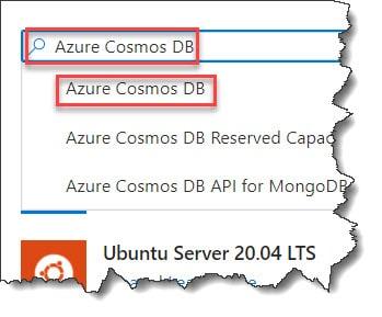 Creating Azure Cosmos DB Account