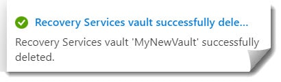 how to fix Vault cannot be deleted